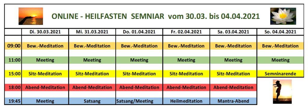 Schedule/Zeitplan